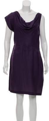 Rogan Draped Asymmetrical Dress