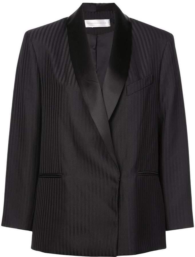 Victoria boxy striped blazer