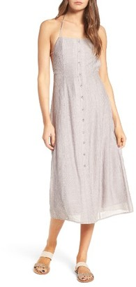 Women's Lush Button Front Apron Dress $49 thestylecure.com