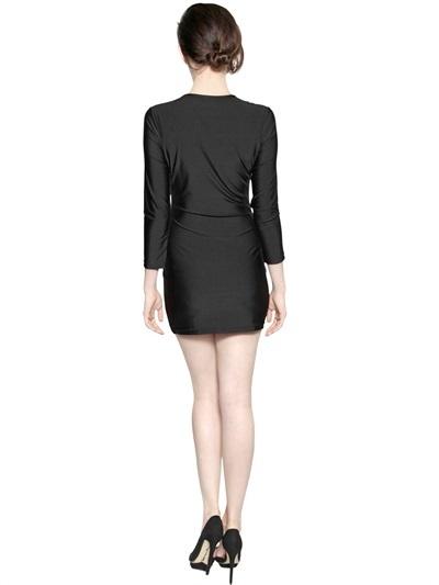 Emma Cook Printed Stretch Techno Jersey Dress