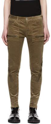 Undercover Beige Corduroy Zip Skinny Jeans