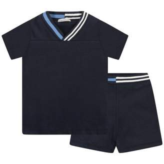 Moncler MonclerBaby Boys Navy Blue Pique Top & Shorts Set