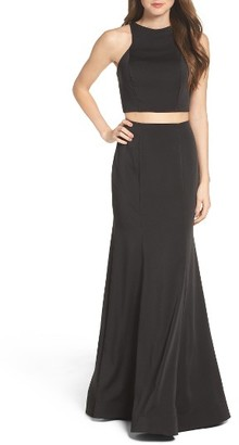 Women's La Femme Two-Piece Gown $378 thestylecure.com