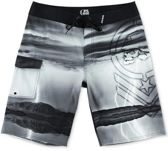 Metal Mulisha Men's Endtimes Graphic-Print Boardshorts $54 thestylecure.com