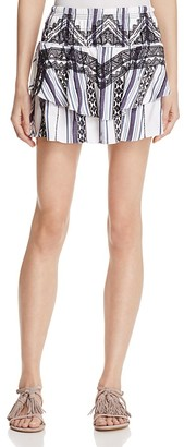 Red Carter Vega Printed Mini Skirt $150 thestylecure.com