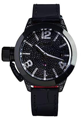 U-Boat Classico 40 IPB Women's Automatic Watch with Black Dial Analogue Display and Black Strap 6978.0