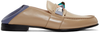 Fendi Brown Rainbow Loafers $895 thestylecure.com