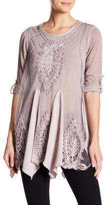Couture Simply Applique Roll-Up Sleeve Tunic