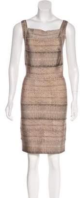 Herve Leger Printed Bandage Dress