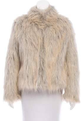 Sanctuary Faux Fur Stand Collar Jacket