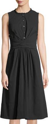Rebecca Taylor Sleeveless Wrapped Midi Dress