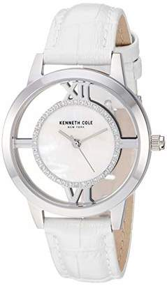 Kenneth Cole New York Women's Transparency Stainless Steel Japanese-Quartz Watch with Leather Strap