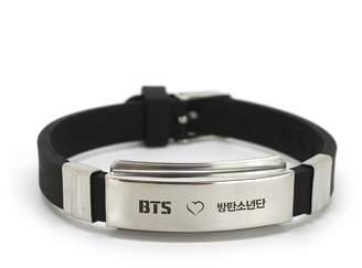 Lomo Fanstown BTS Kpop Stainless Steel Silicon Wristband Anti-Rust and Water Prove with Cards