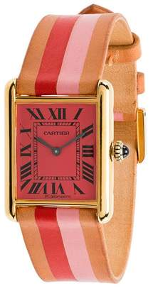 Cartier La Californienne Fraise Peony Varsity Tank Large Watch