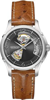 Hamilton Jazzmaster Open Heart Automatic Ostrich Strap Watch, 40mm
