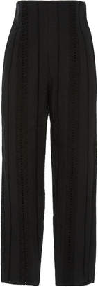 MDS Stripes Exclusive Embroidered Stripe Slim-Leg Capri