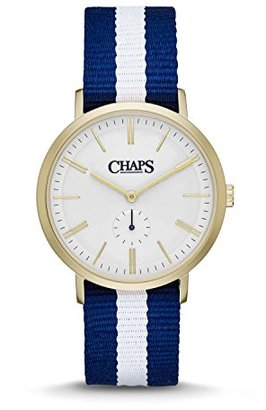 Chaps Dunhamストライプキャンバスtwo-hand Watch