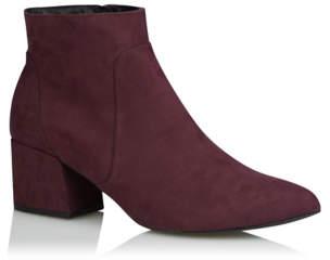 George Plum Mid Heel Ankle Boots