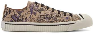 Burberry Kingley low-top cotton trainers