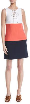 Trina Turk Miss Brady 2 Colorblock Lace-Up Dress