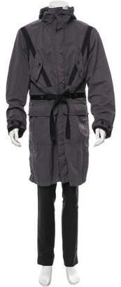 Dries Van Noten Nylon Hooded Coat