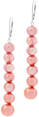 Honora Cultured Graduated Pearl Earrings, Sterling Silver