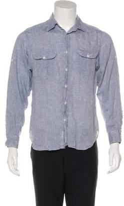 Billy Reid Linen Full Cut Shirt