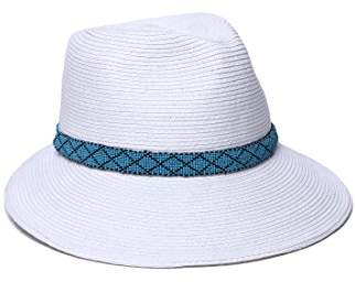 685eb0ce0 Women's Regent Asymmetrical Beaded Trim Sun Hat, Rated UPF 50+ for Max Sun  Protection,Adjustable Head Size