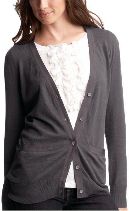 Grosgrain-trimmed cardigan