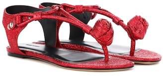 Isabel Marant Jarley glitter rosebud sandals