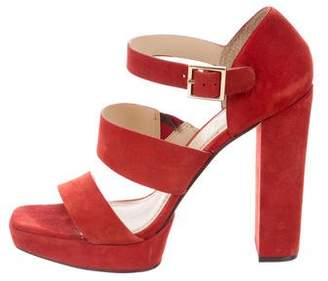 Elizabeth and James Suede Platform Sandals
