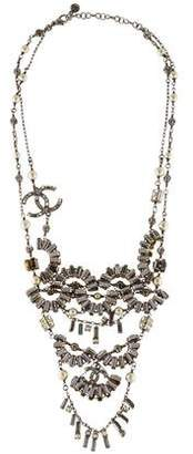 Chanel Faux Pearl & Crystal Collar Necklace
