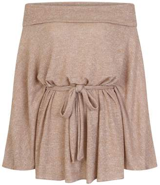 Bardot CoCo VeVe - Lilly Off The Shoulder Metallic Knitted Top