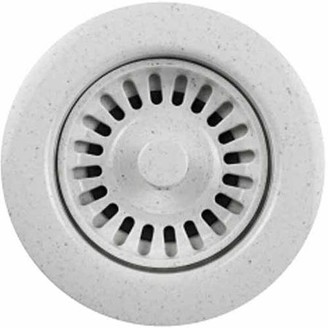 HOUZER Houzer 190-9266 Speckled Granite Sink Strainer for 3.5-Inch Drain Openings, White
