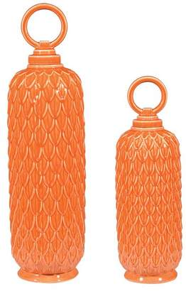 Sterling Industries Lidded Ceramic Decorative Jars and Canisters
