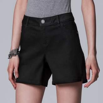 Vera Wang Women's Simply Vera Vented Hem Jean Shorts