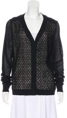 Diane von Furstenberg Trite Chain Lace Knit Top