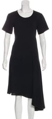 Ann Demeulemeester Wool Blend Dress Black Wool Blend Dress