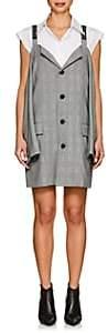 Ambush Women's Cutout-Shoulder Checked Blazer Dress - Black