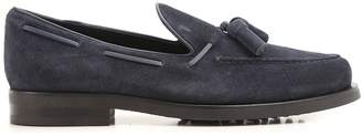 Tod's Tassels Detailed Suede Loafers