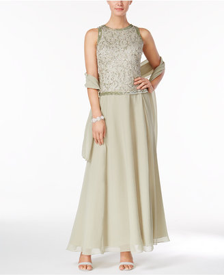 J Kara Beaded A-Line Gown