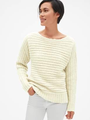 Gap Horizontal Ribbed Boatneck Sweater in Wool-Blend