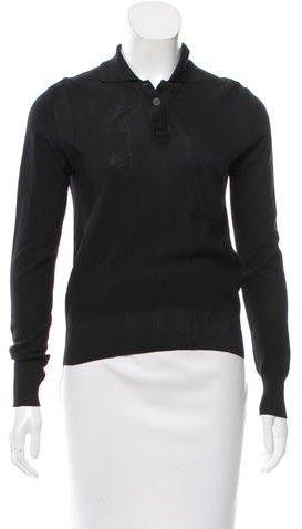 Chanel Silk Polo Top
