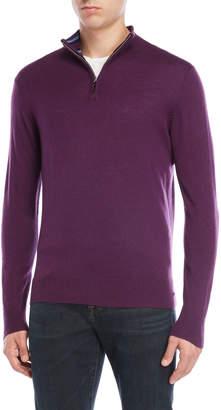 Tailorbyrd Quarter-Zip Wool-Blend Sweater