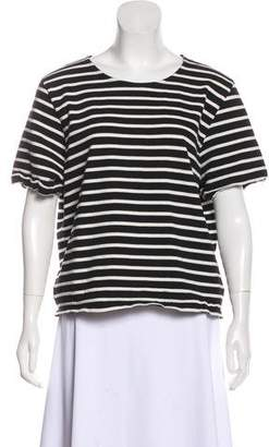 Ganni Oversize Striped Short Sleeve Top