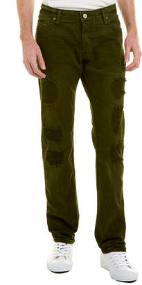 Robin's jean Long Flap Green Army Bro Back Straight Leg