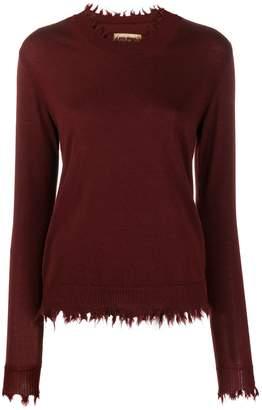 UMA WANG raw edge cashmere sweater