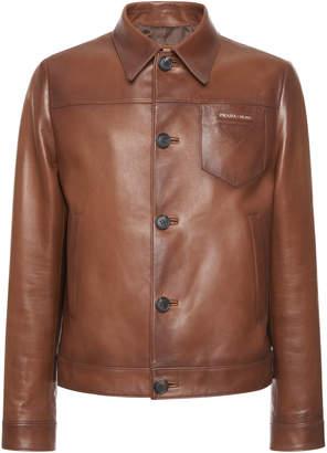 Prada Appliquéd Leather Jacket