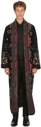 Etro Carpet Ride Wool Jacquard Long Coat