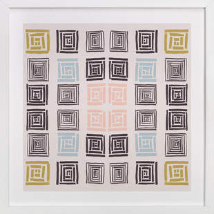 Slightly colorful quilt Art Print